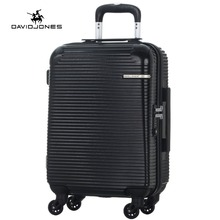 DAVIDJONES 24 inches hardside luggage TSA LOCK trolly suitcase