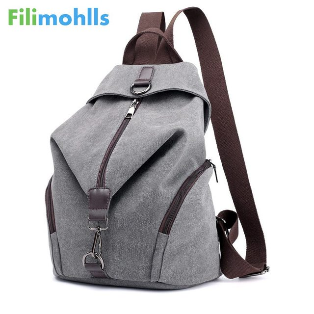 47eb9827de60 Vintage Canvas Women Backpacks Fashion Travel Backpack for Teenager Girls  Student School Bag Casual Rucksack Female Bags S1704