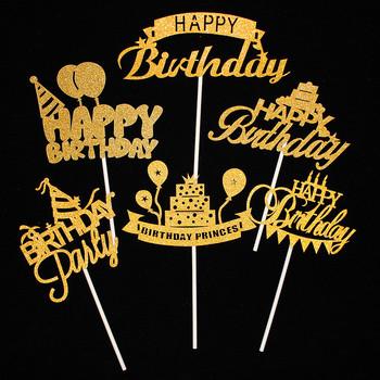 Ozdoba na wierzch tortu akcesoria na przyjęcie urodzinowe kubek ozdoba na wierzch tortu dekoracje na imprezę urodzinową dla dzieci Baby Shower Happy wykończenie do tortów urodzinowych tanie i dobre opinie Vichandar Cake Flag Dzień matki Płeć Reveal Party Walentynki Chrzest chrzciny Rocznica THANKSGIVING Wielkanoc HALLOWEEN