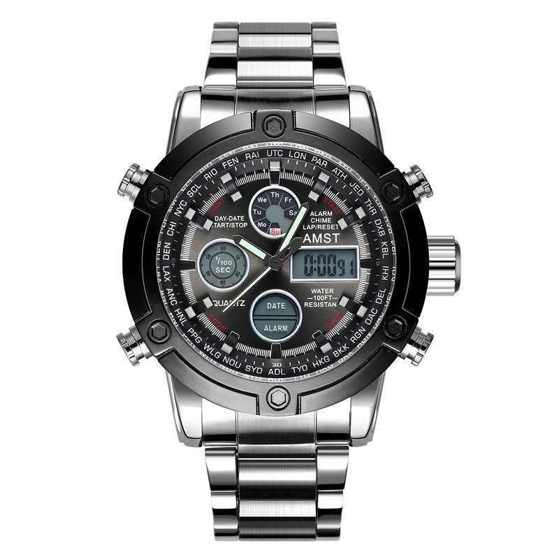 Horloges Heren 2018 Topmerk AMST 3022 Dual Display Horloges Luxe - Herenhorloges - Foto 3