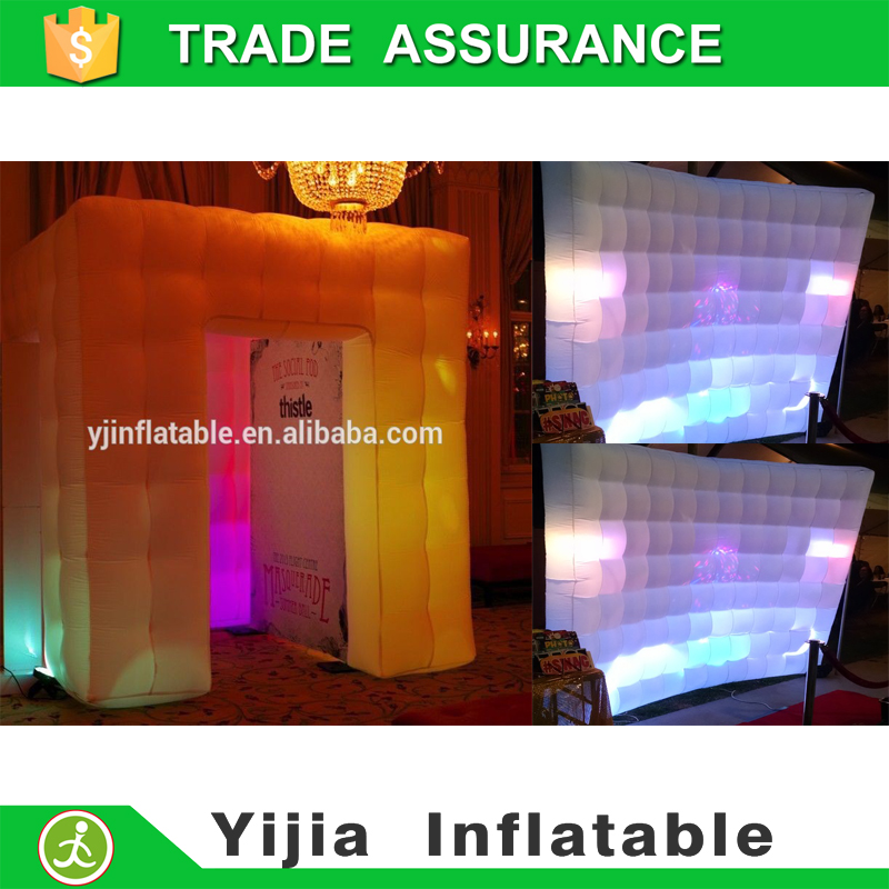 free shipping customized inflatable pohoto booth inflatable wall combination