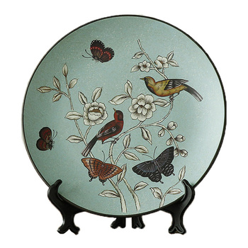 Creative Bird And Butterfly Ceramic Decorative Plate Decoration Home Living Room Desktop Decoration Crafts Highend Business Gift