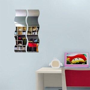 Image 3 - Nieuwe 6 PCS DIY Verwisselbare Huis Kamer Muur Spiegel Sticker Art Vinyl Mural Decor Decal Muur Sticker vinilos decorativos para paredes