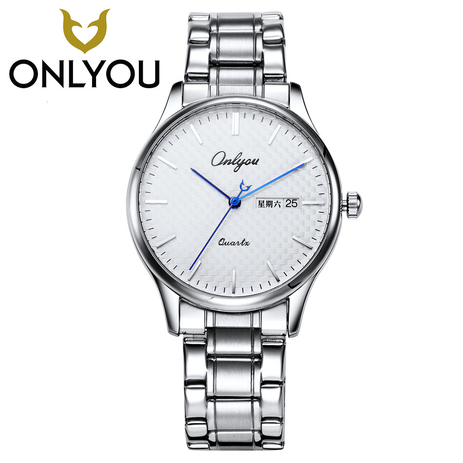 ONLYOU Lovers Fashion Casual Watch 30M Waterproof Luxury Brand Quartz Ladies Watches Gift Clock Male Dress Wristwatch Wholesale men s watches fashion casual watch 50m waterproof luxury brand quartz female watches gift clock onlyou dress wristwatch women