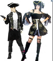 Free shipping,adult sexy men women court pirate dress costume halloween party dress up clothes hat