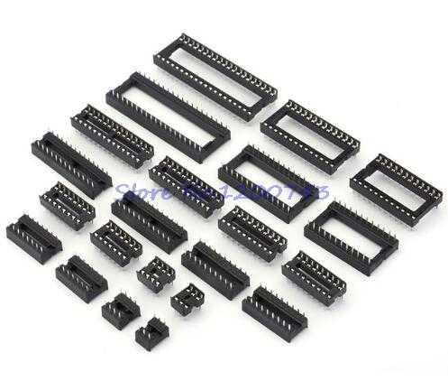 10 PCS IC ซ็อกเก็ต DIP6 DIP8 DIP14 DIP16 DIP18 DIP20 DIP28 DIP40 pins ตัวเชื่อมต่อ DIP Socket 6 8 14 16 18 20 24 28 40 pin สต็อก
