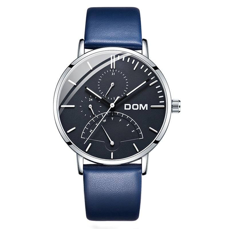 DOM Watch Men Top Brand Luxury Male Watches Fashion leather Watch Man Quartz Clock Wristwatch reloj hombre horloges mannen