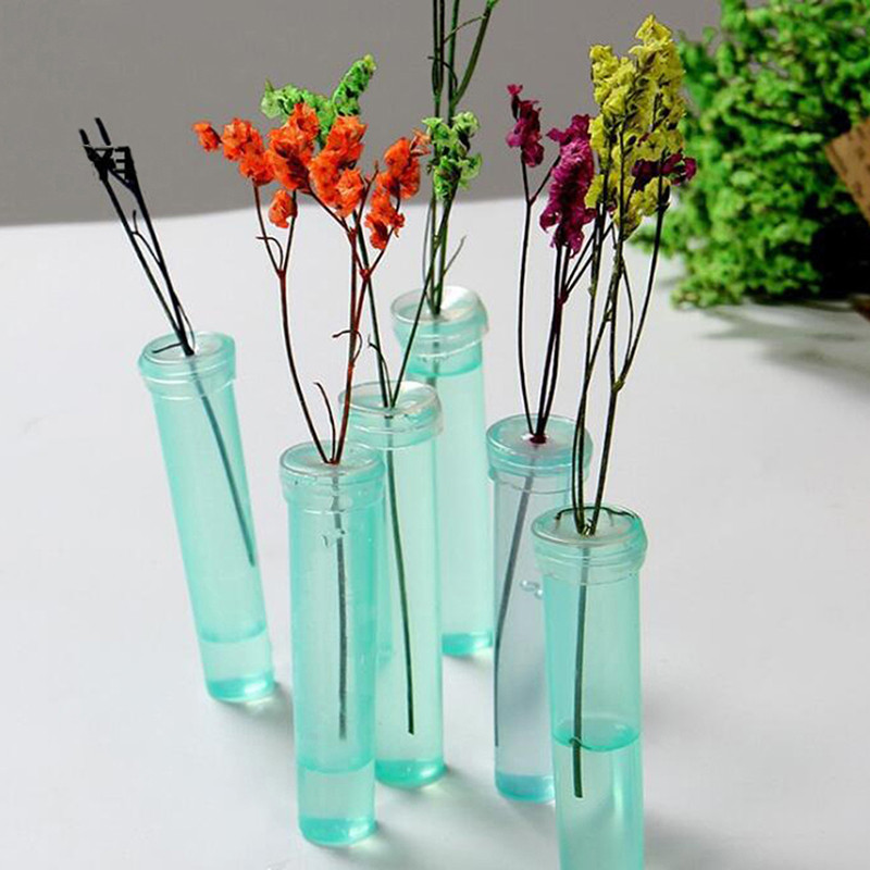 100pcs Flower Nutrition Tube Plastic Floral Water Tube With Cap Keep Fresh Rhizome Tube Hydroponic Container For Flower|Pot Trays| |  - title=