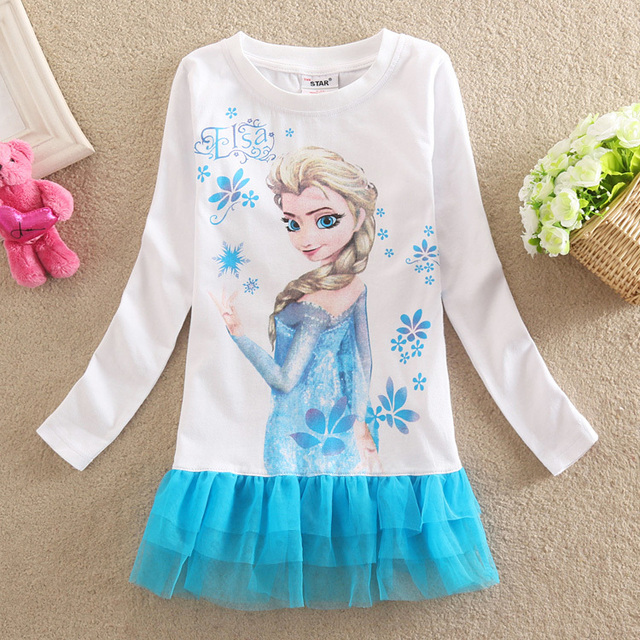889 Caliente Venta Elsa Vestido De La Princesa Elsa Y Anna Vestir Hermosa Disfraz Bebé Y Ropa Para Niños Vestido De Las Muchachas Envío Gratis