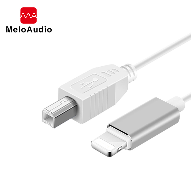 MeloAudio 1.5m Instrument USB OTG Cable Lightning To Type-B Male To Male For Electric Piano/ Drum/ Audio DAC/ Mixer