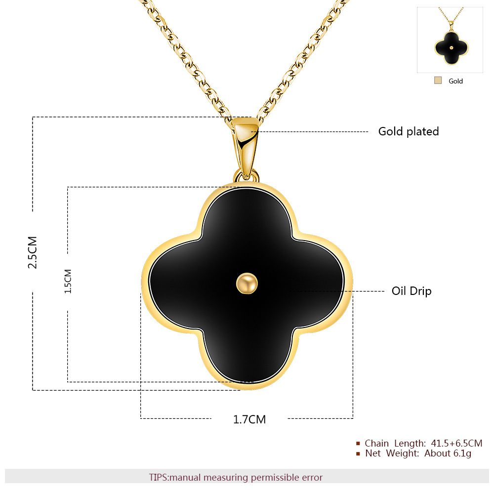 attic necklace product clover gold four pendant original by rose leaf