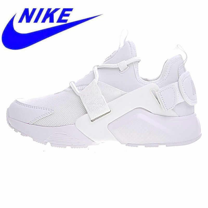 9bb4612283fa Original Nike AIR HUARACHE CITY LOW Women s Running Shoes Sneakers.White