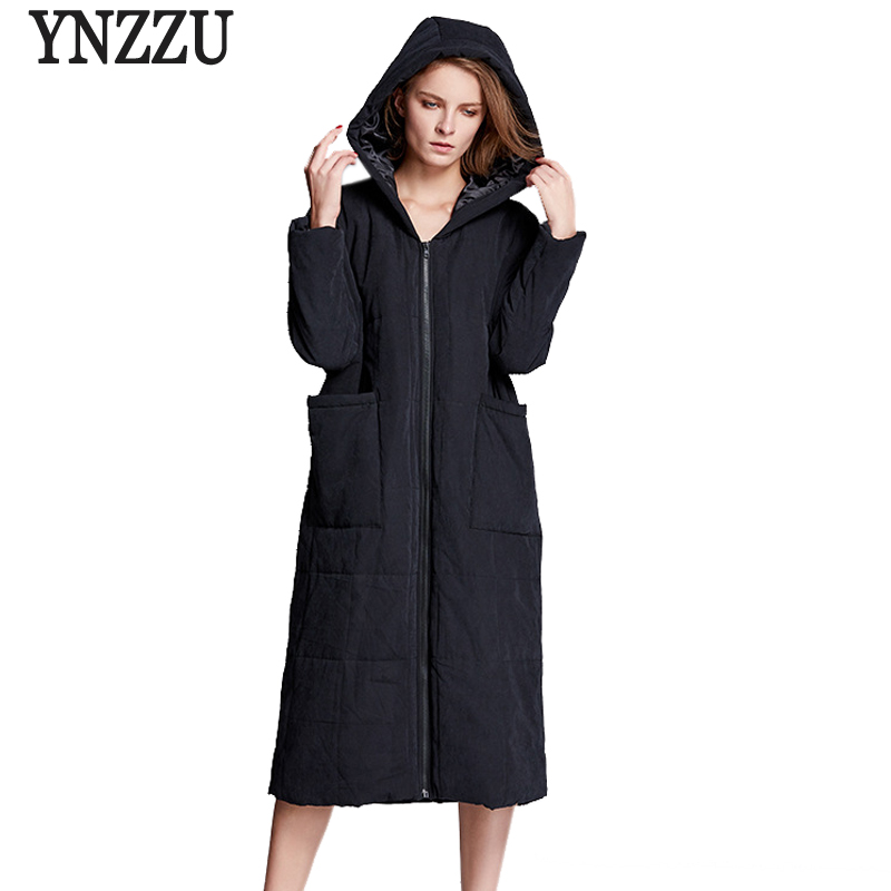2017 New Winter Women Parkas Long Bio-down Jacket Hooded Warm Cotton Padded Loose Female Jacket Oversized Coat Pockets AO392 2017 new solid winter jacket women hooded coat cotton padded parkas long warm sweat girls cold outwear female down jacket m 3xl