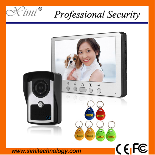 все цены на High quality IP64 waterproof outdoor unit 7 Inch color screen and outdoor camera standalone access control video Intercom bell онлайн