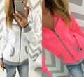 Женщины Толстовка Jumper Толстовка Осень девушки Куртка Пальто короткая Куртка кардиган 2016 Новая рубашка blusa повседневная