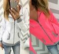 Women Hoodie Jumper Sweatshirt Autumn girls Parka Coat short Jacket cardigan 2016 New shirt blusa casual