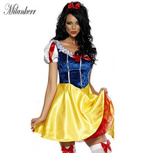 Halloween Party Women Adult Cosplay Snow White Dresses Princess Costume Carnival Women Wear Snow White Dress