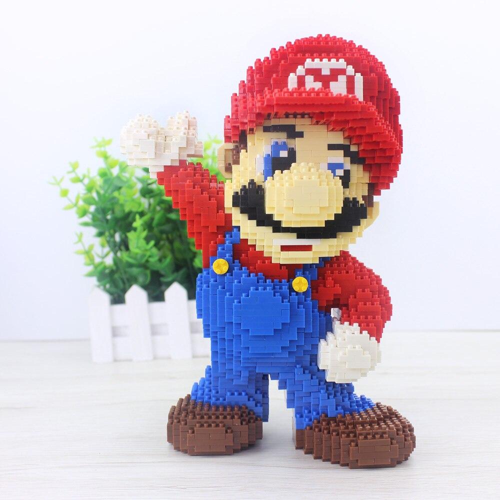 2019 Venta Directa Kazi Brinquedos Juguetes 2497 Uds. Bloque de dibujos animados de juguete diamante Super Mario gran oferta diseño mejor regalo para niños