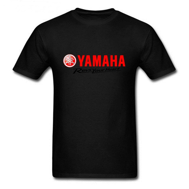 Men's YAMAHA Tshirt vogue trend fad Men Short-Sleeve T shirt Yamaha Logo Revs Your Heart Manner Printed TShirts Men Tees