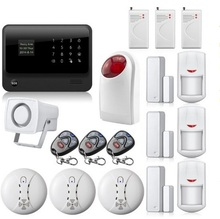 433mhz gsm WiFi alarm system Security home G90B GSM wireless alarm system IOS / Android Control sensors  for smart home security