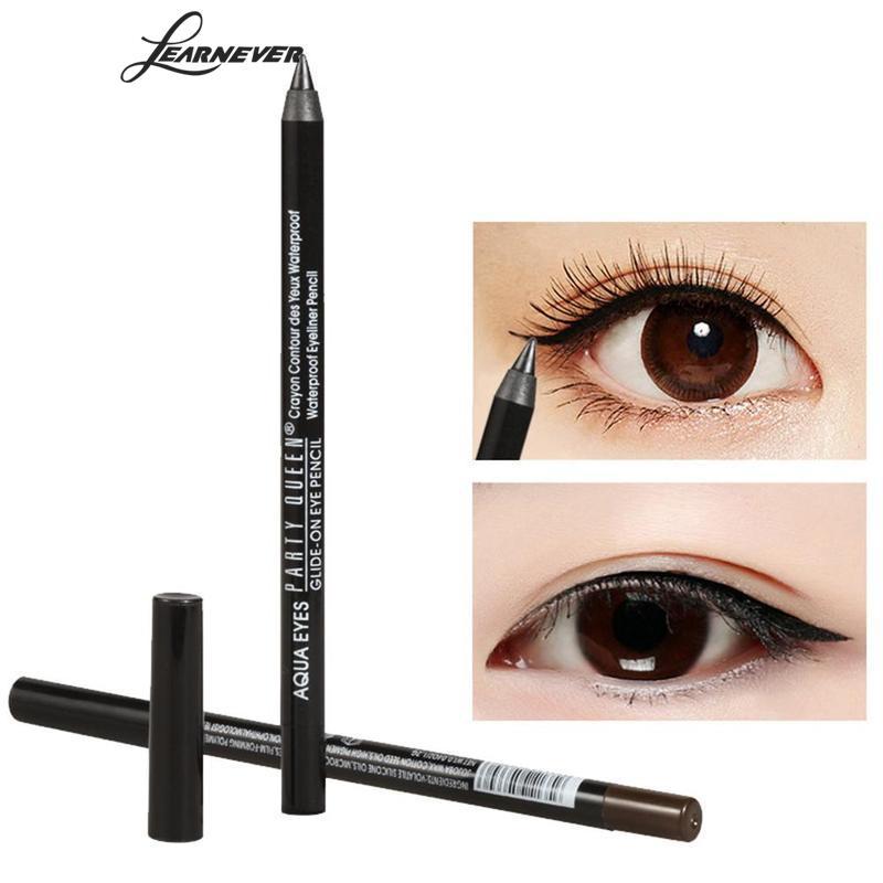 Водонепроницаемый чёрный; коричневый Цвет карандаш Подводка для глаз гель Новинка 2017 года Eye Liner Pencil Макияж длительный Подводка для глаз