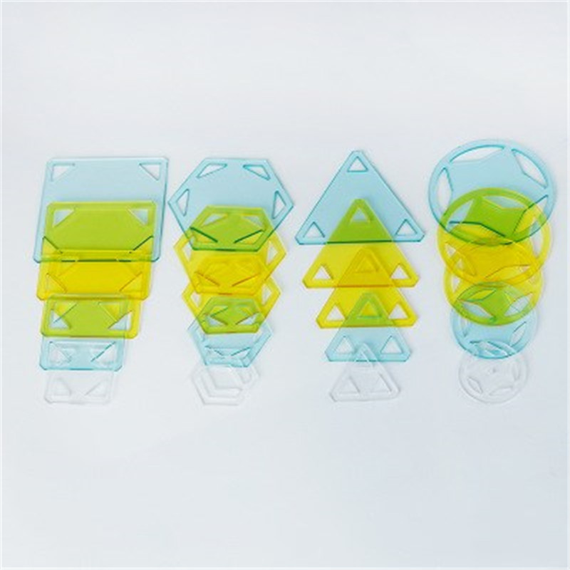 5PCs Plastic Transparent Hand-quilted Crimp Patchwork Template DIY Handmade Craft Sewing Drawing Patchwork Tool For Cloth 1Set