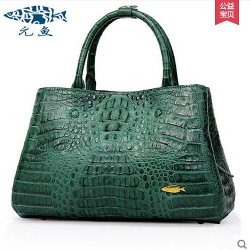 yuanyu New women handbag crocodile skin handbag imported leather wrist bag single shoulder bag leisure ladies handbags yuanyu the new crocodile skin female bag imported crocodile leather single shoulder bag genuine handbag alligator women handbag