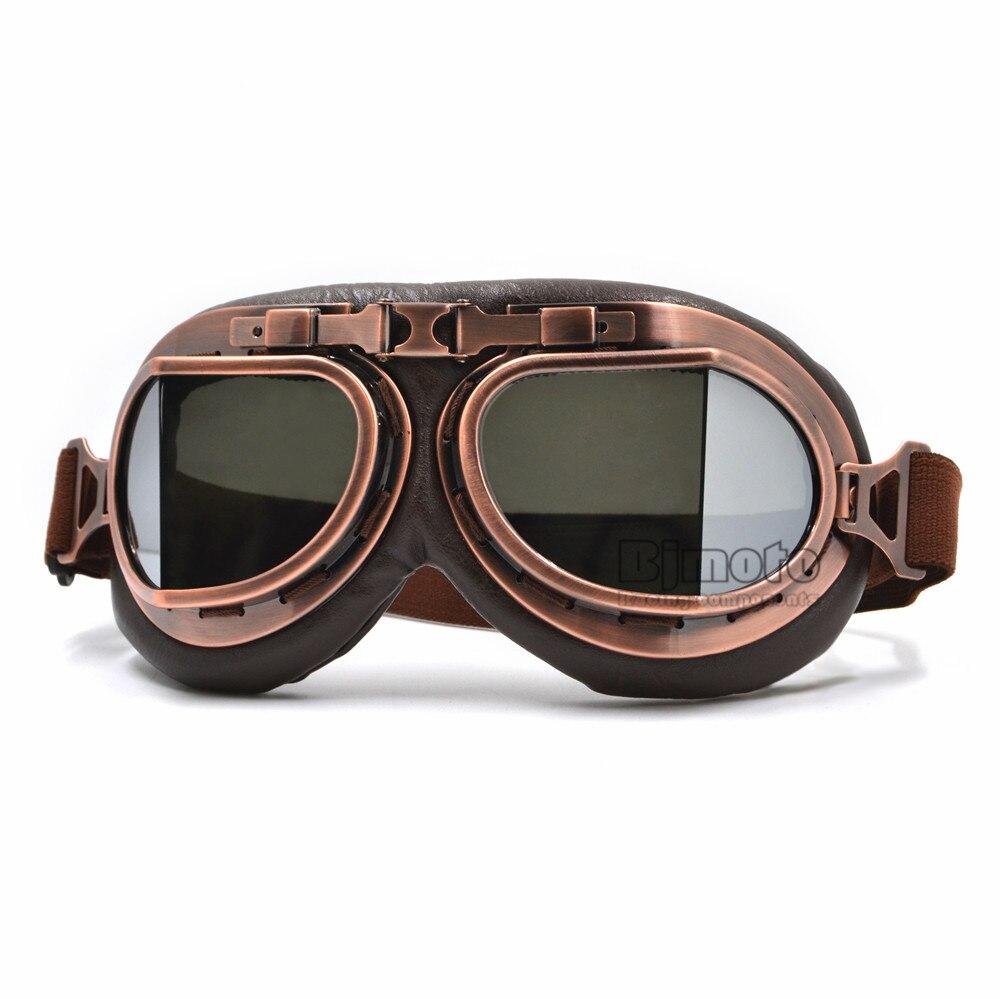 Harley Style Motorcycle Goggles Pilot Motorbike Goggles Leather Jet Helmet Eyewear Ski Goggle ATV Off-Road sunglasses 5 Colors ...