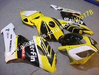 Hot Sales,Yellow Blue White Fairing Kit For Honda CBR1000RR 2004 2005 CBR1000 04 05 ABS Motorcycle Fairing (Injection molding)