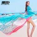 190 Oversize Floral Pareo New Women Summer Gradient Beach Dress Tunic Plus Size Spain Designer Beach Cover Up Floral Pareo Shawl