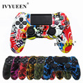 IVYUEEN 18 Colors Silicone Camo Protective Skin Case For Sony Dualshock 4 PS4 DS4 Pro Slim Controller Thumb Sticks Grips Caps