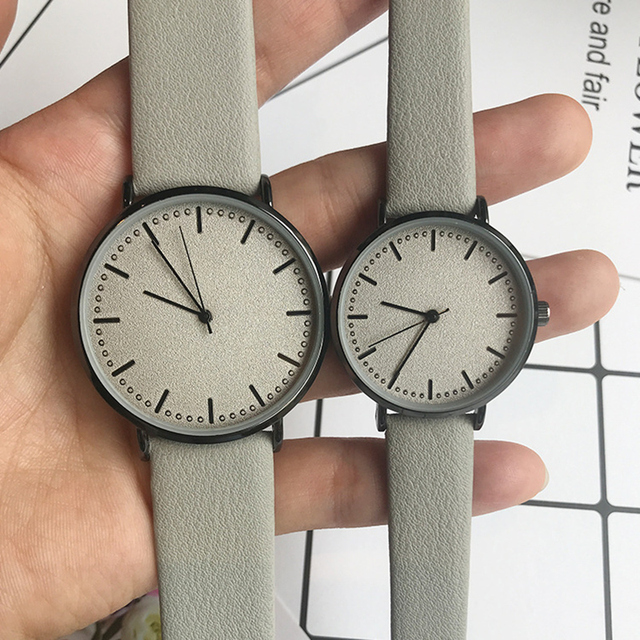 minimalist style Couples Women Leather Watch Lovers Quartz Watch Men BGG Brand L