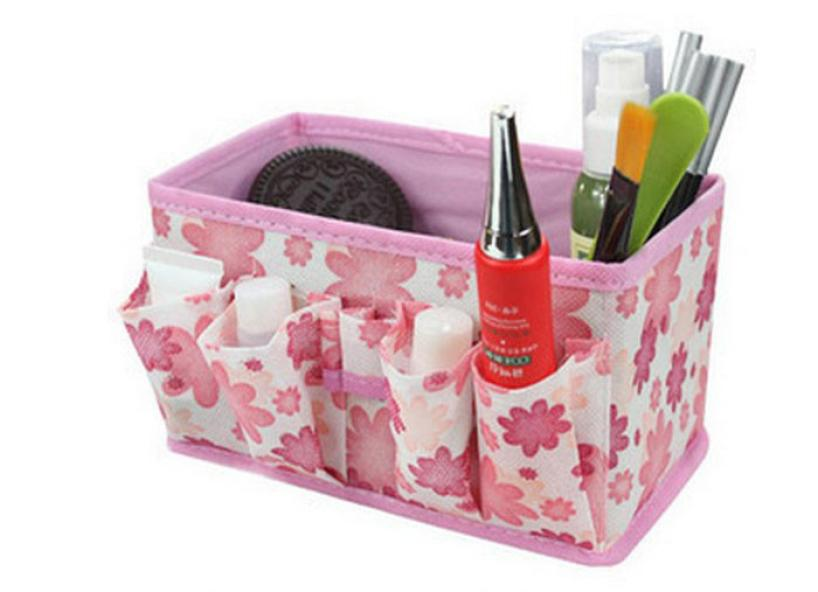 2018 hot sale make up Makeup Cosmetic Storage Box Bag Bright Organiser Foldable Stationary a Container 18Mar 31