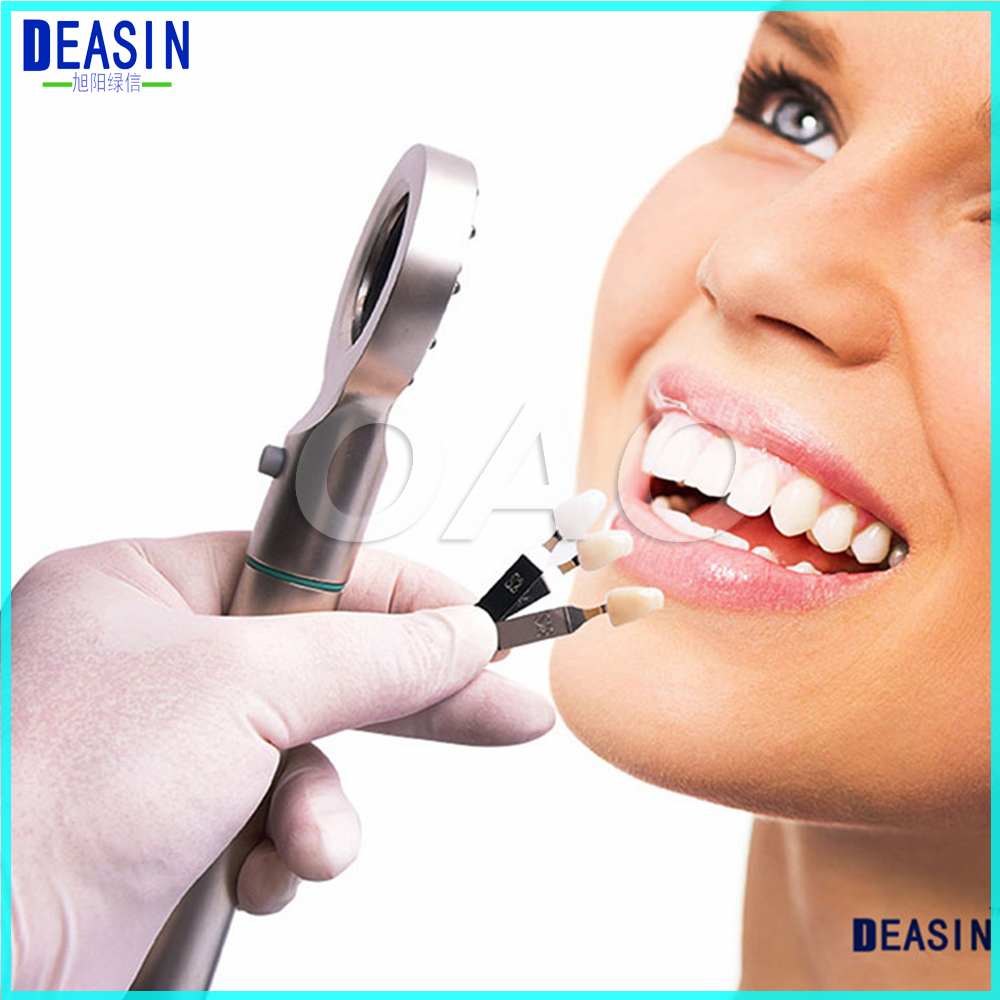 Фотография BASE LIGHT 3 in 1 Dental TRI Spectra LED Shade Matching Tooth Colorimetric 12 LED lights Teeth whitening guide for dentist