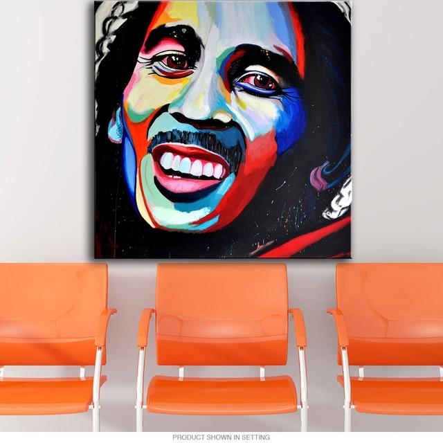 Wall Art, Wall Decor, Wall Painting Bob Marley pop art oil Painting ...