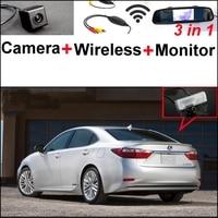 3 in1 كاميرا + استقبال لاسلكية + مرآة خاصة السهل diy نظام وقوف لكزس es250 es 250 ES300h