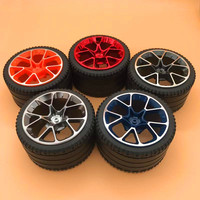 4pcs/lot Building blocks compatible high tech accessories 6139227+6217976/42083 Bugatti 82*46mm wheel