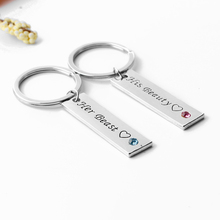 Her Beast His Beauty Couple Keychains Heart Charm Keyring Jewelry Key Holders For Lovers
