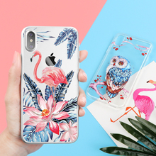 Flamingo Case Cover For iPhone X 8 5 5s se 6 6S 7 Plus for Samsung Galaxy J5 J7 A3 A5 A8 2016 2017 2018 S8 S9 Plus S7 S6 Edge S5