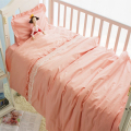 Pink Baby Girl Breathable Thicken Cotton Baby Cot Bedding Sets Kit For Cot, Baby Bed Pad Bumpers In The Crib For a Newborn
