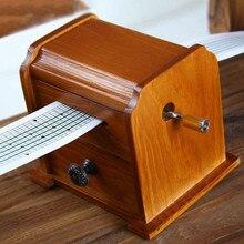 Restore Ancient Ways Hand Tape Write Music Music Box Diy Woodiness The Music Box Originality Gift Gift