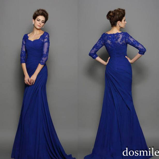 2016 Lace Mermaid Mother Of The Bride Dresses Groom: 2016 Royal Blue Mother Of The Bride Dress Mermaid Trumpet