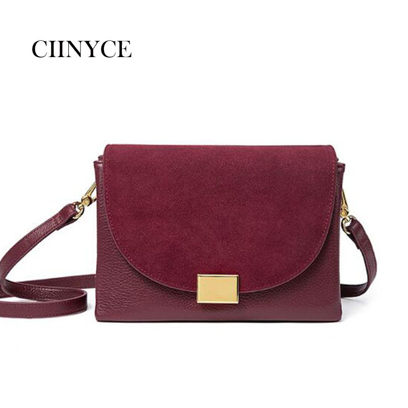 Women Real Split Suede First Layer Leather Shoulder Bag Female Leisure Nubuck Casual Handbag Small Vintage Messenger bags Sac 2018 new fashion nubuck leather women s mini handbag vintage women s small handbag casual zipper shoulder messenger bag