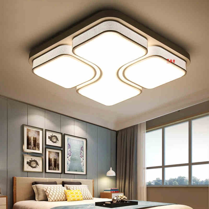 Black/White Modern Led Ceiling Lights For Living Room Bedroom 95-265V Indoor lighting Ceiling Lamp Fixture luminaria teto