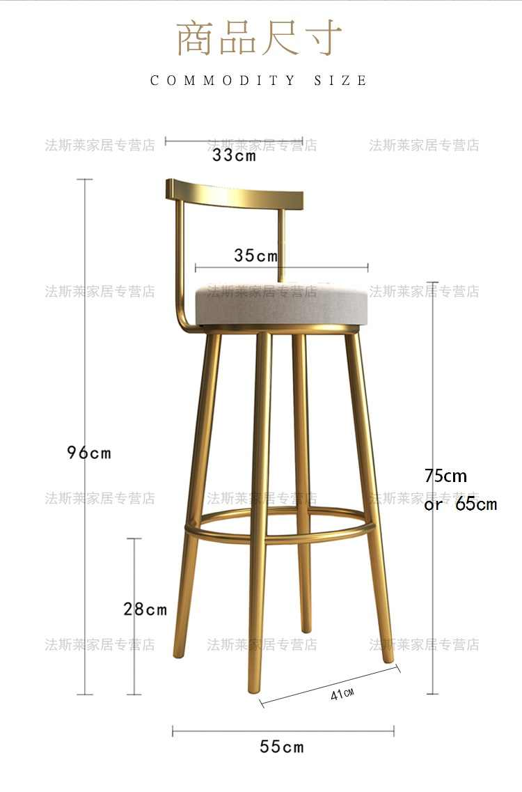 Хорошее роскошное высококачественное легкое роскошное Позолоченное кресло из нержавеющей стали с высокой спинкой