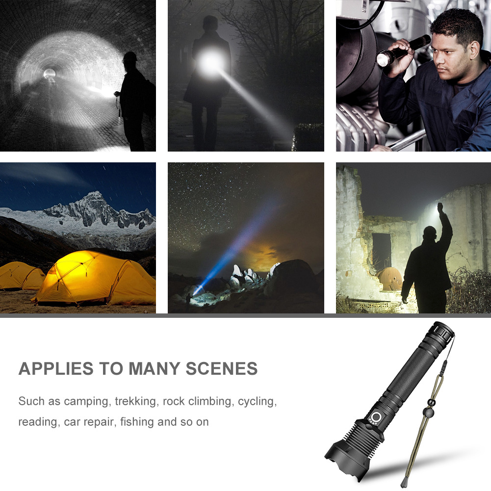 1 Pcs LED Flashlight Torch Aluminum Alloy Waterproof Zoomable for Outdoor Camping AI881 Pcs LED Flashlight Torch Aluminum Alloy Waterproof Zoomable for Outdoor Camping AI88