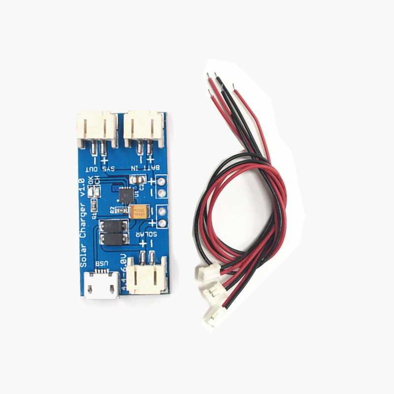 Mini Solar Lipo Charger Board CN3065 Lithium Battery Charge Chip DIY Outdoor Charging Board Module with 3 Connector Wires diy atmega64 develop chip board set with avr downloader cable