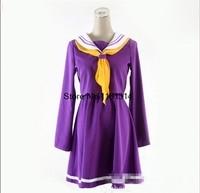 COSPLAY No Game No Life NGNL Shiro Japanese School Girls Uniform Cosplay Costume S XL