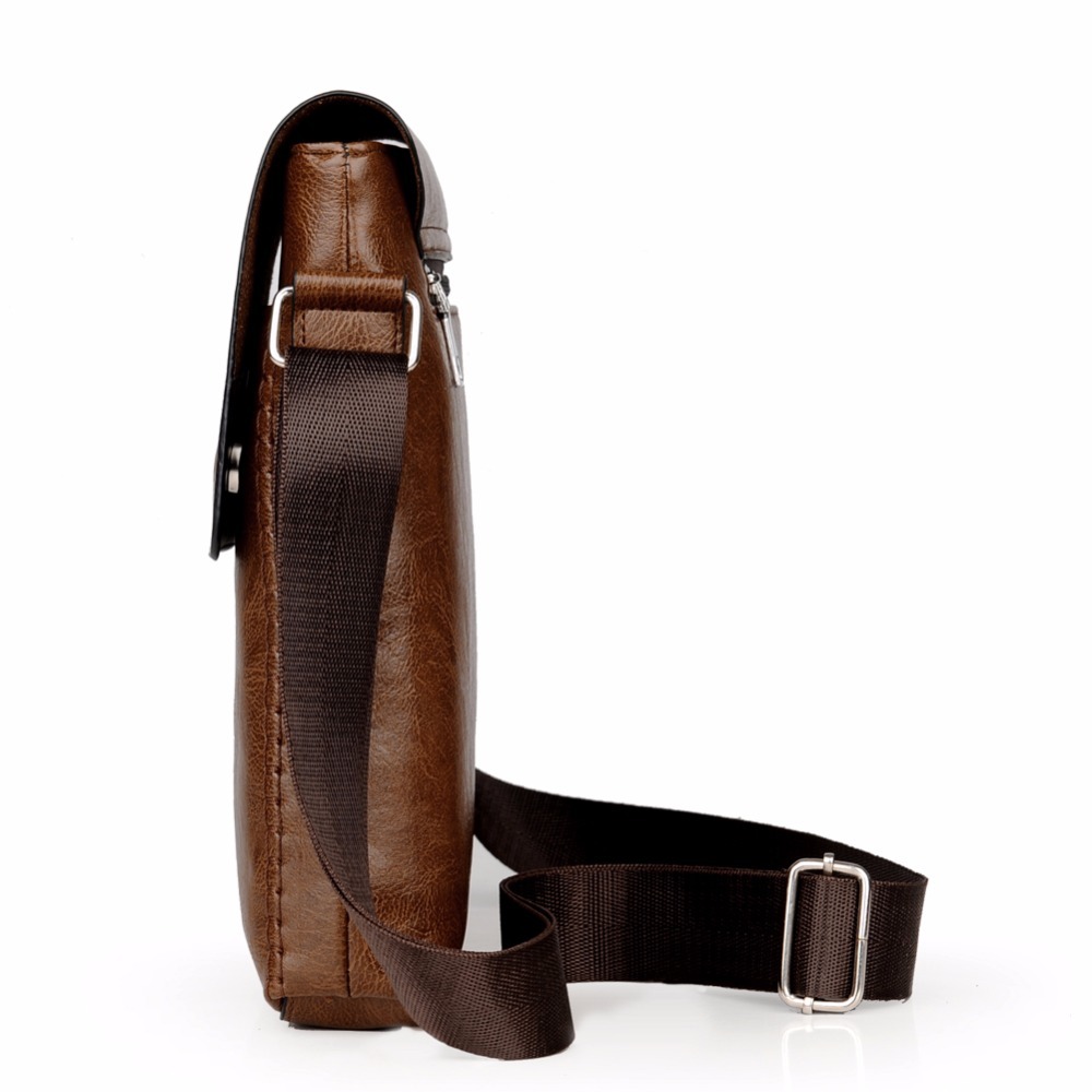 Crossbody Bags For Men Leather Shoulder Bag Male Casual Simple Knitting Messenger Bags High Quality Business Men's Hand Bag 4