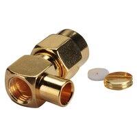 20x SMA штекер под прямым углом 90 град полу-жесткий кабель RG402.141 дюймов РЧ разъем золото